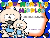Snow Monster Middles CVC Medial Short Vowel Clip Cards Literacy Center