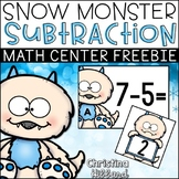 Snow Monster Subtraction- FREEBIE