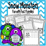 Snow Monsters Fun with Fact Families