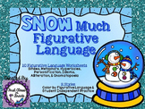 Snow Much Figurative Language (Winter Literary Device Unit)