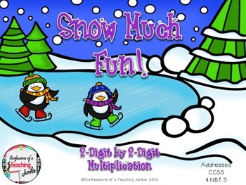 Snow Much Fun - 2-Digit by 2-Digit Multiplication