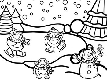 Snow Much Fun - 2-Digit by 2-Digit Multiplication