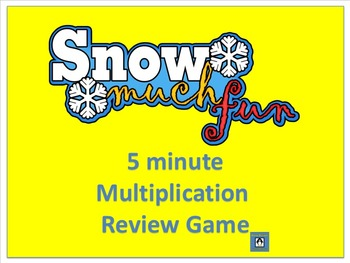 Snow Much Fun - 5 Minute Multiplication Review Game