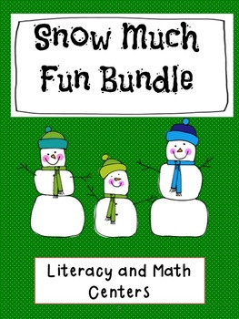 Math and Literacy Centers - Snow Much Fun - Bundle