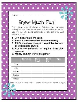 Snow Much Fun! Logic Puzzle