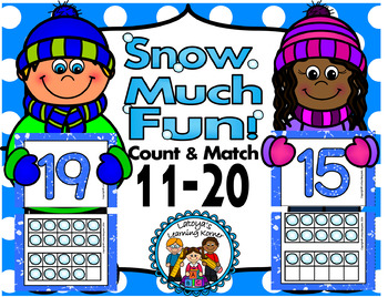 Winter theme-counting 11-20 snowball puzzle