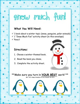 Snow Much Fun Reading Center -- January