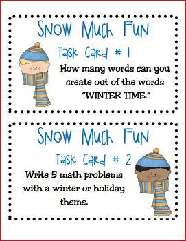 Snow Much Fun Task Cards