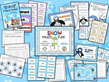 Snow Much Fun - Winter Literacy Centers and Activities