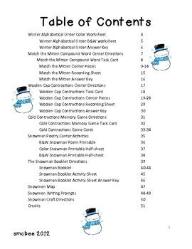 Snow Much Fun- Winter Literacy Pack
