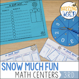 Winter Math Centers: Place Value, Rounding, Patterns, and Building Numbers