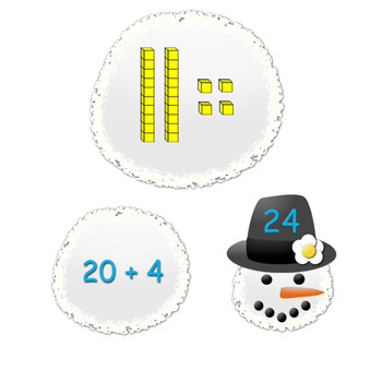 Snow Much Fun With Tens and Ones! (CCSS Aligned)