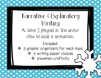 Snow Much Fun Writing and Craftivity