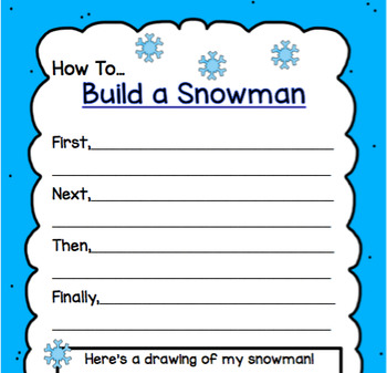 Snow Much Fun Writing and Math Pack