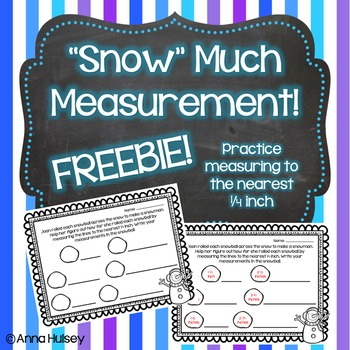 """""""Snow"""" Much Measurement Freebie! (Measuring to the nearest"""