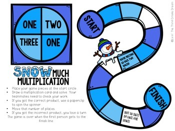 Snow Much Multiplication! Two Digit by One Digit Practice