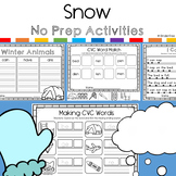 Snow No prep Activity Pack