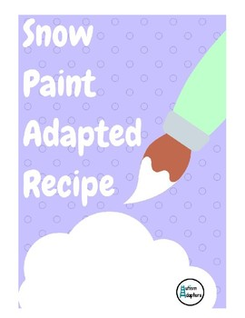 Snow Paint Adapted Recipe
