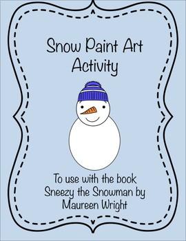 Snow Paint Art Activity