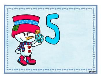 Snow Pals Playdough Mats Counting 1-10