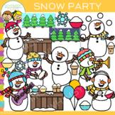 Snow Party Clip Art