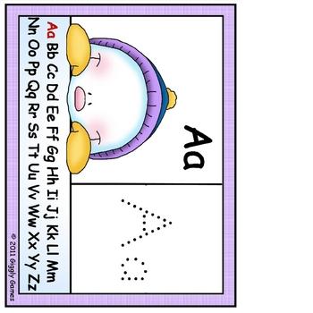 Snow Peekers Alphabet Flip Chart