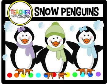 Snow Penguins Clip Art