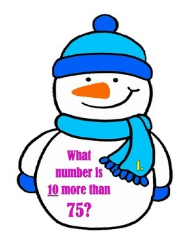 """""""Snow People""""  Are you 10 more than or 10 less than?"""