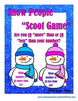 """Snow People""  Are you 10 more than or 10 less than?"