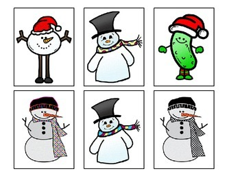 Snow People Matching and Describing Cards
