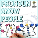 Snow People Pronouns : Speech Therapy Language Activity