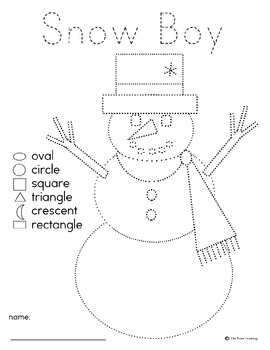 snow people pre writing with shapes by little stars learning tpt. Black Bedroom Furniture Sets. Home Design Ideas