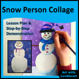 Snow Person Collage Winter Art Project