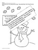 Snow Person (snowman) Counting and Skip Counting!  (Color, cut & glue!)