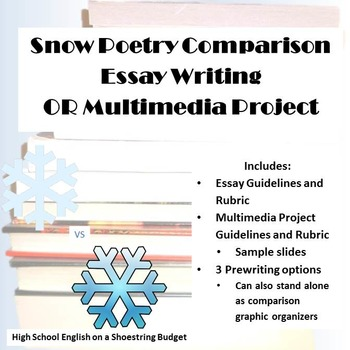 Snow Poem Comparison Essay or Multimedia Project