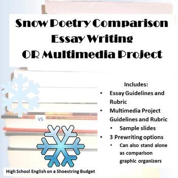 Snow Poem Comparison Essay or Multimedia Project