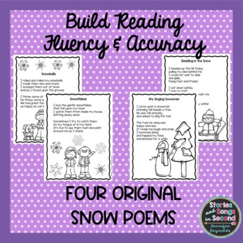 Snow Poems--Winter Reading, Rhyming and Writing Pack
