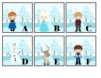 RTI Snow Princess Alphabet Cards (ABCs)