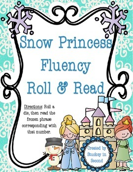 Snow Princess Fluency Phrase Roll & Read (All 6 Levels!)