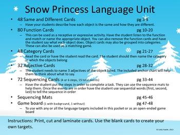 Snow Princess Language Unit