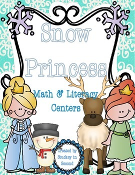 Snow Princess Math & Literacy Centers