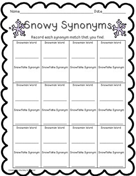 Snow Princess Math & Literacy Centers