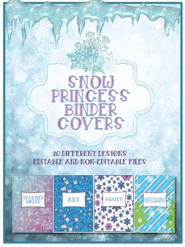 Snow Princess Theme Binder Covers/Dividers