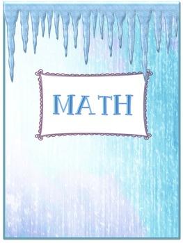 Snow Princess Theme Binder Covers/Dividers