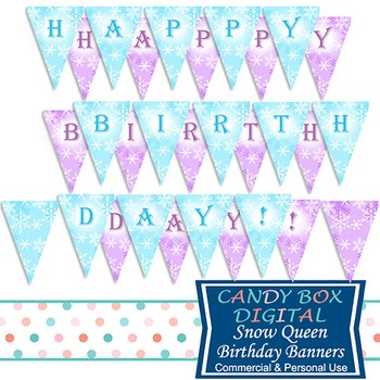 Snow Queen Full-Size Printable Birthday Party Banner - for Frozen themed parties