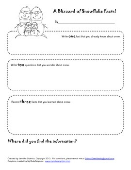 Snow Research Worksheet