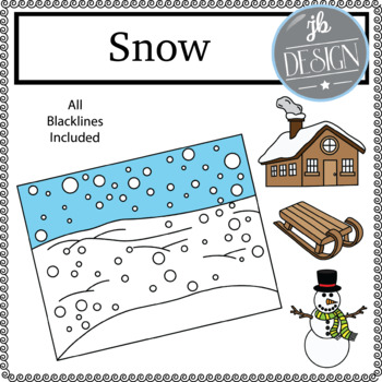 Snow Scene (JB Design Clip Art for Personal or Commercial Use)