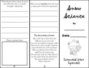 Snow Science Inquiry Investigation