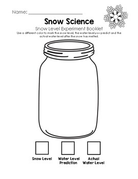 Snow Science - Snow Line Experiment Booklet