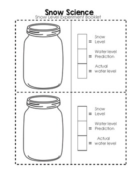 Snow Science - Snow Line Experiment Booklet